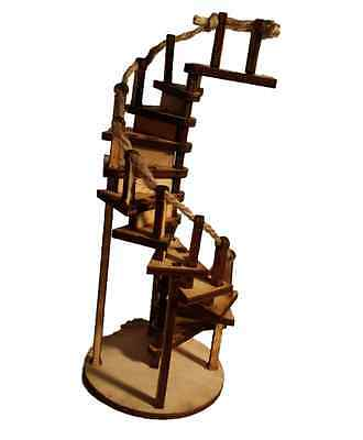 Fairy Door Workshop  Spiral Rope Handrail Staircase, Ladder Stairs Accessory