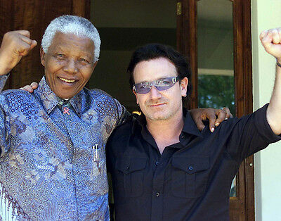 Bono and Nelson Mandela UNSIGNED photo - D2118