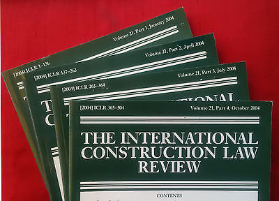 International Construction Law Review, vol. 21 (2004) complete volume