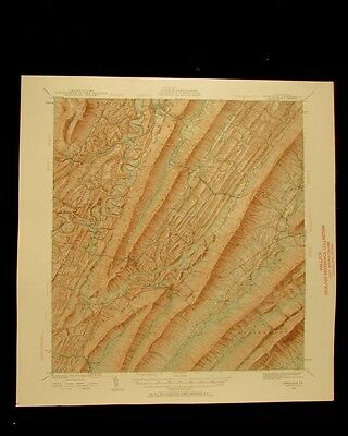 Orbisonia Pennsylvania vintage 1961 original USGS Topographical chart