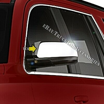 For CHEVY Suburban 1992-1996 1997 1998 1999 Chrome 2 Top Half Mirror Covers Pair