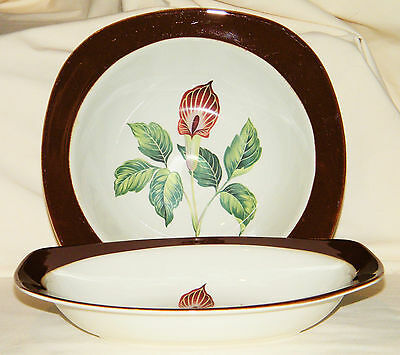 "1952 Mid Century Set of (2) TAYLOR SMITH & TAYLOR ""KING O'DELL"" Vegetable Bowls"