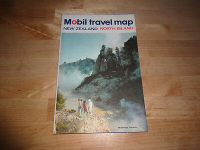 Early Mobil Oil Travel Map of New Zealand North Island