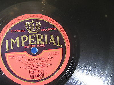 Hollywood Dance Orchestra: Following You/ Stein Song - 1929 UK -