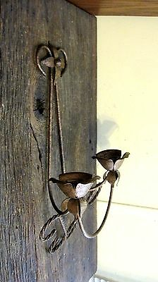 Vintage Distressed Finish Taper Candle Holder Home & Garden Wall Sconce Light