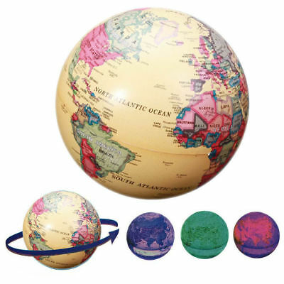 14cm Electric LED Light Lamp Self Rotating World Globe Earth Map Geography Atlas