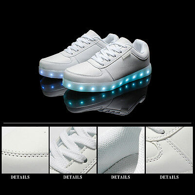 Kids USB Charging LED Light Up Luminous shoes Boys Girls  Causal Sneakers