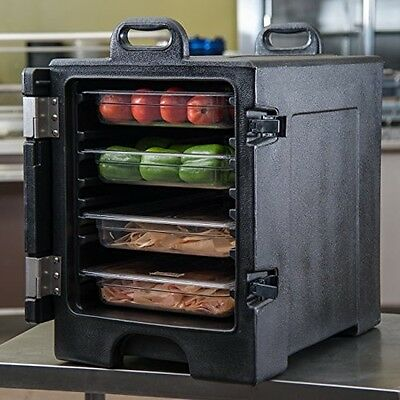 Carlisle Cateraide Insulated Front End Loading Food Pan Carrier 5 Pan Black