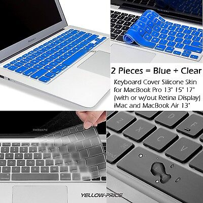 """Thin Silicone Soft Keyboard Cover Clear For Macbook Pro w/Retina 13"""" 15"""" Sydney"""