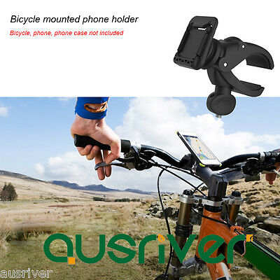 New Rock Bike Bicycle Handlebar Mount Phone Holder for iPhone Samsung HTC Black