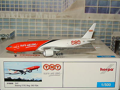 Herpa Wings TNT B777F Sure We Can OO-TSA 1/500 **Free S&H**