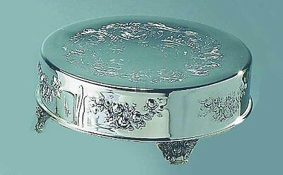 """Elegance 16"""" Silver Plated Round Cake Plateau"""