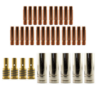 Mig MB15 RH 35 Piece KIT- 0.9mm - Binzel Style - Shroud - Contact Tip -Nozzle AK