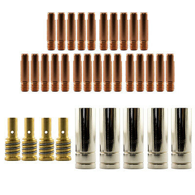 Mig MB15 RH 35 Piece KIT- 1.2mm - Binzel Style - Shroud - Contact Tip -Nozzle AK