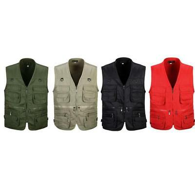 Multi-pocket Photography Mens Fishing Vest Outdoor Waistcoat Hunting Zip Jacket