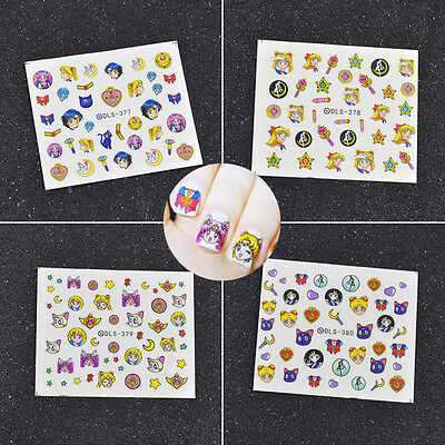 Decals  Decoration Multicolor Nail Art Stickers Sailor Moon Make Up Anime