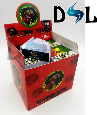 Filter Tips Rasta Box Roaches Paper Card Rolling Filter Tip 50 Per Booklet