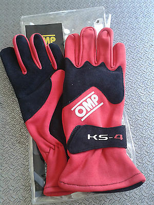 Guanti Kart Omp Bambino Ks-4  Taglia Xxs Rossi Red Karting Race Gloves Children