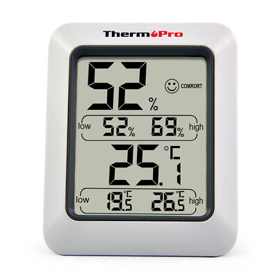 Digital LCD Indoor Outdoor Hygrometer Thermometer Temperature Humidity Meter