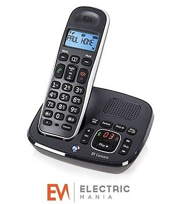 BT Concero 1400 Single Digital Cordless Phone With Answer Machine Caller ID