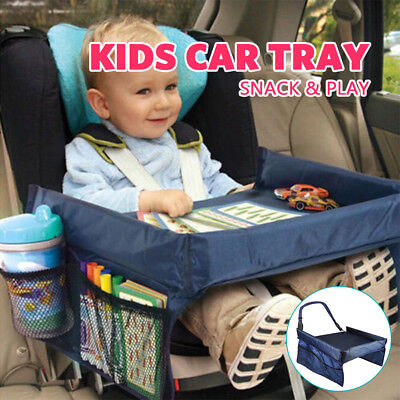 Kids Baby Car Safety Seat Snack Play Travel Tray Drawing Board Table Waterproof