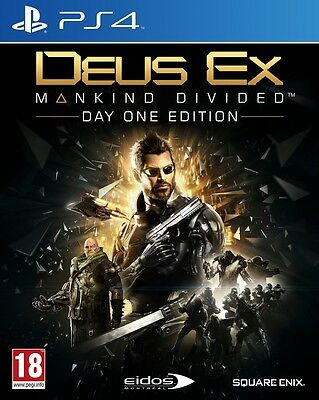 Deus Ex: Mankind Divided Day One Edition (Playstation 4) NEW & Sealed