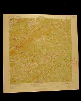Boones Mill Virginia vintage 1953 original USGS Topographical chart