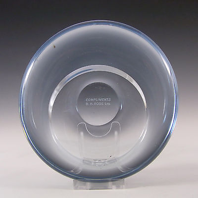 Holmegaard Per Lutken 'Akva' Blue Glass Bowl Signed