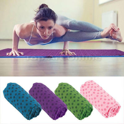 1 * Sport Fitness Voyage Exercice Tapis Yoga Couverture Serviette Antidérapante