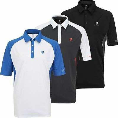 50% Off Island Green Logo Chest Performance Cool Pass Mens Golf Polo Shirt