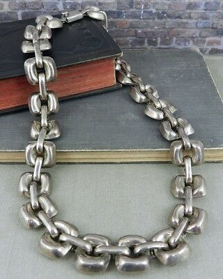 Taxco Mexico Sterling Silver Square Link Necklace