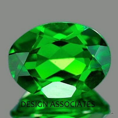 Chrome Diopside 7X5 Mm Oval Cut Radiant Russian Green