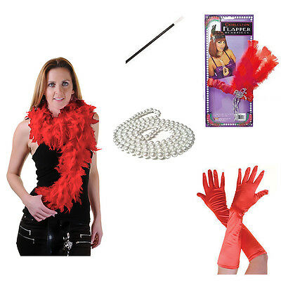 20S Flapper Theme Gatsby Ladies Fancy Dress Accessories Charleston Girl Costume