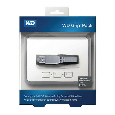 Western Digital Grip Pack For My Passport Ultra With USB 3.0 Cable Smoke