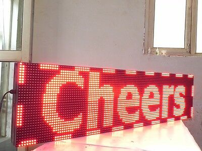 """RED COLOR LED SIGN 18"""" X 189"""" Outdoor  Programmable Scrolling Text Logo Display"""