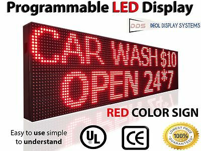 """18"""" X 113"""" Outdoor Window Led Signs 10Mm Programmable Scrolling Message Red"""