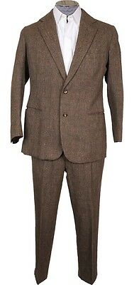 Vintage 1970s Bespoke Tweed Suit Lesley and Roberts London Tweed Run