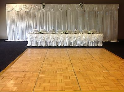 Cake table skirt,Top Table skirt With Swag 30pcs  With Clips