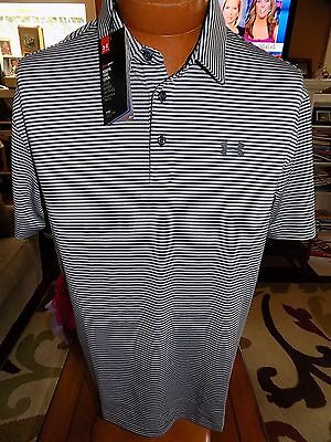 NWT Men's Under Armour UA Elevated Heather Stripe Golf Polo 1242758 Large $64.99