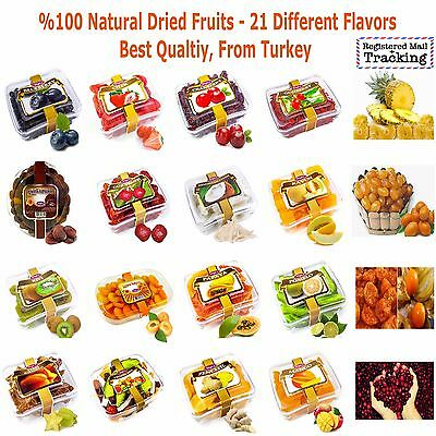 %100 NATURAL DRIED FRUITS - 21 Different Flavors - Best Qualtiy - TUGBA Brand