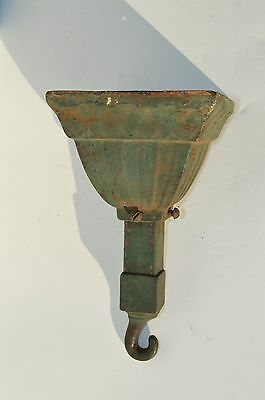 Antique Art & Craft Cast Iron Chandelier Ceiling Light Fixture Canopy/ Holder