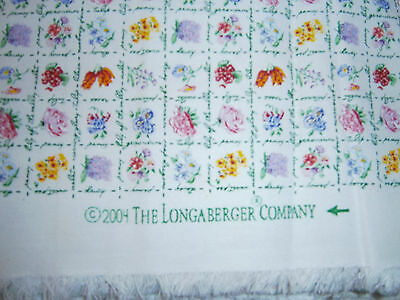 2004 Longaberger Collector Club Mini Floral Fabric