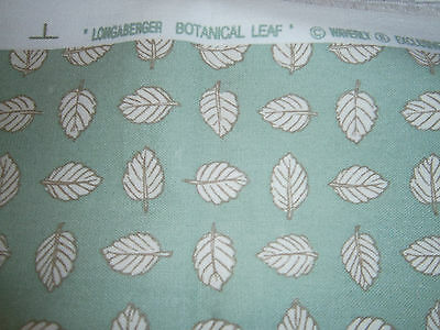 Longaberger Waverly Botantical Sage Leaf Fabric