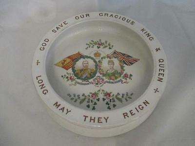 D8  1911 King George & Queen Mary Ceramic Baby Bowl