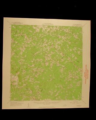 Columbia Virginia vintage 1962 original USGS Topographical chart