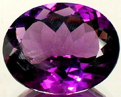 19thC Antique 46¾ct Scotland Amethyst Roman St. Jerome Magic Eagle Snakebite Gem