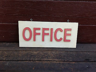"""Vintage Wood """"Office"""" Sign with Raised Wood Letters"""
