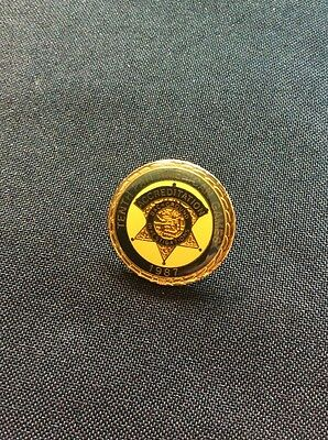 Tenth Pan American Games Accredittion 1987 Back Ground Investigations Lapel Pin