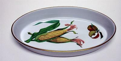 1961 Royal Worcester Evesham England Fine Porcelain Dish   Oven To Table Vintage