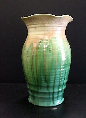 LARGE REMUED GLAZED VASE IN PRISTINE CONDITION. MARKED 8-10 TO BASE. 24.5cm TALL